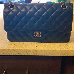 Handbags - Black lambskin gold hardware purse real leather